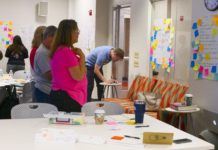 Teachers work on curriculum design at the Deeper Learning Summer Academy